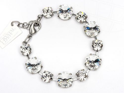 Bracelet  with Swarovski Clear Crystals